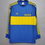 1981 Boca Juniors Home Long Sleeve Retro Soccer Jersey