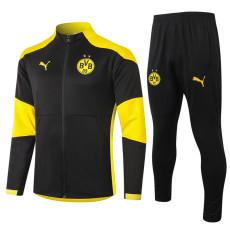 20-21 Dortmund Black Jacket Tracksuit (D)