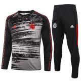 20-21 Bayern Black Ash Sweater Tracksuit