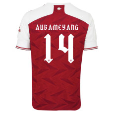 AuBAMEYANG #14 ARS Home 1:1 Fans Soccer Jersey 2020/21 UEFA Font (欧联字体)
