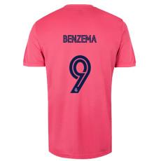 BENZEMA #9 RMA 1:1 Away Pink Fans Soccer Jersey 2020/21