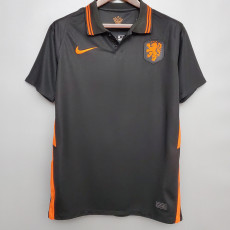 20-21 Netherlands 1:1 Away Black Soccer Jersey