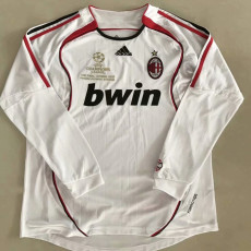 2006-2007 ACM Away White Long Sleeve Retro Soccer Jersey(带决赛小字)