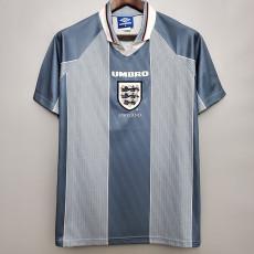 1996 England Away Retro Soccer Jersey