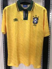 1991-1993 Brazil Home Retro Soccer Jersey