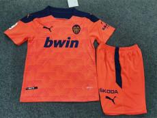 20-21 Valencia Away Kids Soccer Jersey