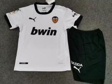 20-21 Valencia Home Kids Soccer Jersey