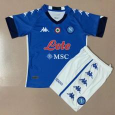 20-21 Napoli Home Kids Soccer Jersey