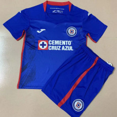20-21 Cruz Azul Home Kids Soccer Jersey