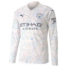 20-21 Man City Third Long Sleeve Soccer Jersey