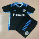 20-21 Leeds United Goalkeeper Black Kids Soccer Jersey