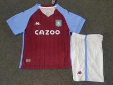 20-21 Aston Villa Home Kids Soccer Jersey