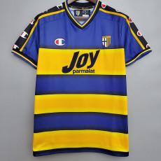 2001-2002 Parma Home Retro Soccer Jersey