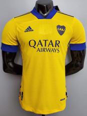 20-21 Boca Juniors Away Yellow Player Version Soccer Jersey