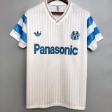1990 Marseille Home Retro Soccer Jersey