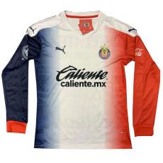 20-21 Chivas Away Long Sleeve Soccer Jersey