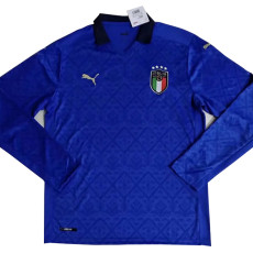 2020 Italy Home Long Sleeve Soccer Jersey