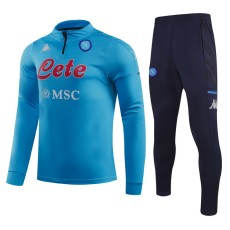 20-21 Napoli Lake Blue Half Pull Sweater Tracksuit