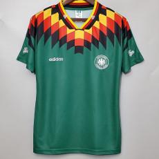 1994 Germany Away Green Retro Soccer Jersey