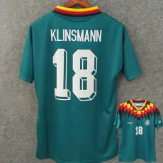 1994  KLINSMANN #18 Germany Away Green Retro Soccer Jersey