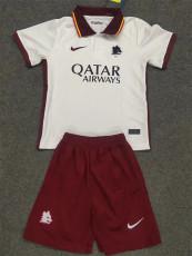 20-21 Roma Away Kids Soccer Jersey