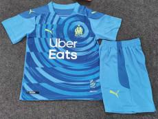 20-21 Marseille Third Kids Soccer Jersey