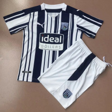 20-21 West Brom Home Kids Soccer Jersey