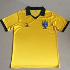1985 Brazil Home Retro Soccer Jersey