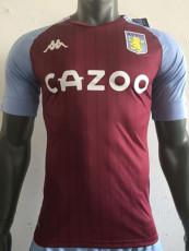 20-21 Aston Villa Home Player Version Soccer Jersey