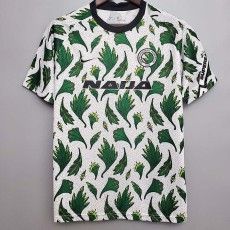 2020 Nigeria Away White Green Fans Soccer Jersey