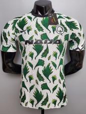 2020 Nigeria Away White Green Player Version Soccer Jersey