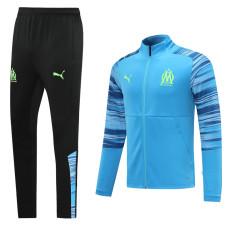 20-21 Marseille Sky Blue Pad Printing Jacket Tracksuit