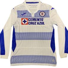 20-21 Cruz Azul Away White Long Sleeve Soccer Jersey