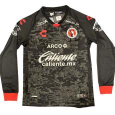 20-21 Tijuana Home Black Long Sleeve Soccer Jersey