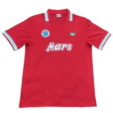 1988-1989 Napoli Away Red Retro Soccer Jersey