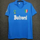 1987-1988 Napoli Home Blue Retro Soccer Jersey