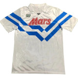 1988-1989 Napoli Away White Retro Soccer Jersey