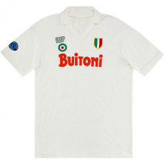 1987-1988 Napoli Away White Retro Soccer Jersey
