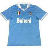 1986-1987 Napoli Home Blue Retro Soccer Jersey