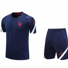 20-21 France Blue Training Short Suit