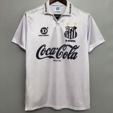1993 Santos FC Home White Retro Soccer Jersey