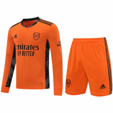 20-21 ARS Orange GoalKeeper Long sleeve Soccer Jersey(Full Sets )