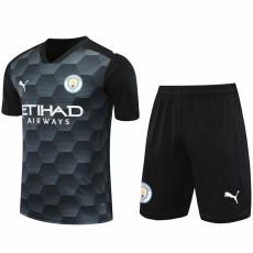 20-21 Man City Black Goalkeeper Soccer Jersey(Full Sets )