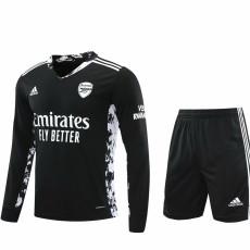 20-21 ARS Black GoalKeeper Long sleeve Soccer Jersey(Full Sets )