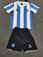 1986 Argentina Home Kids Retro Soccer Jersey