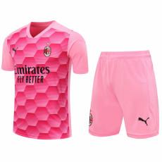 20-21 ACM Pink Goalkeeper Soccer Jersey(Full Sets)