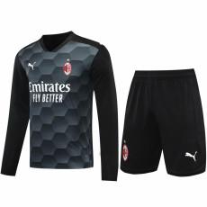 20-21 ACM Black Goalkeeper Long Sleeve Soccer Jersey (Full Sets )