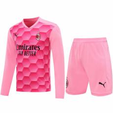 20-21 ACM Pink Goalkeeper Long Sleeve Soccer Jersey (Full Sets )
