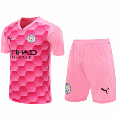 20-21 Man City Pink Goalkeeper Soccer Jersey(Full Sets )