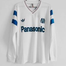 1990 Marseille Home Long Sleeve Retro Soccer Jersey